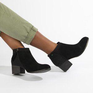 TOMS Black Suede Women's Loren Booties - 7.5